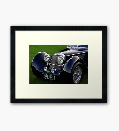 1937 Squire Corsica Short Chassis Roadster Headlight Detail Framed Print