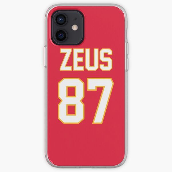 Travis Kelce - Zeus Football Jersey Design iPhone Soft Case