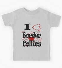 I <3 Border Collies Kids Clothes
