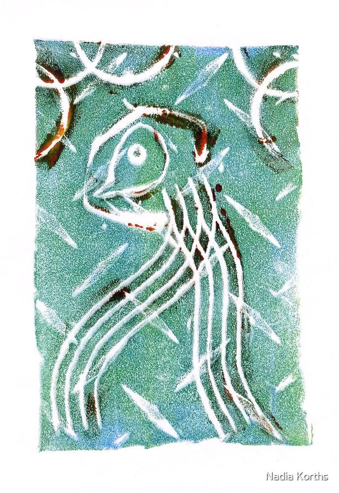Soul Bird Dodging Meteorites by Nadia Korths