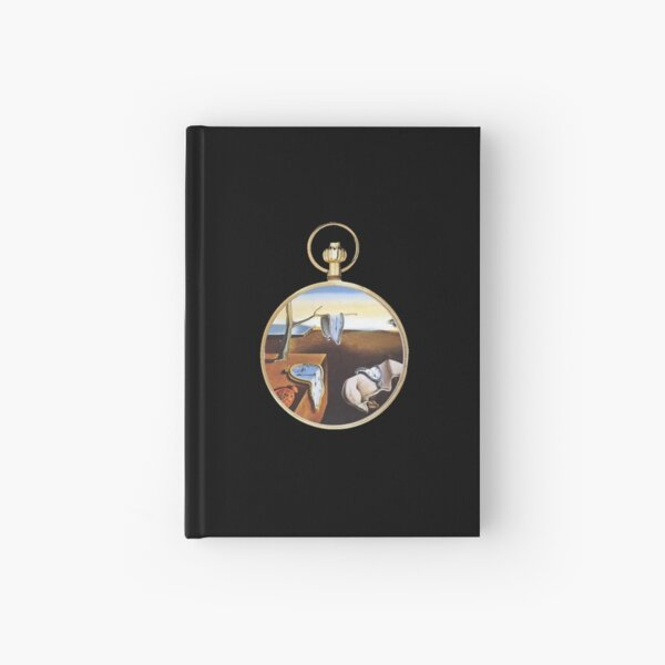 The Persistence of Memory put into a Pocket Watch Hardcover Journal