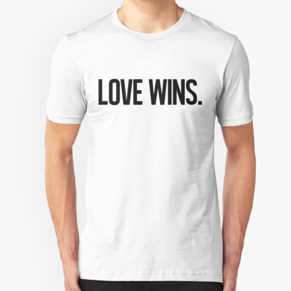 LOVE WINS. Slim Fit T-Shirt
