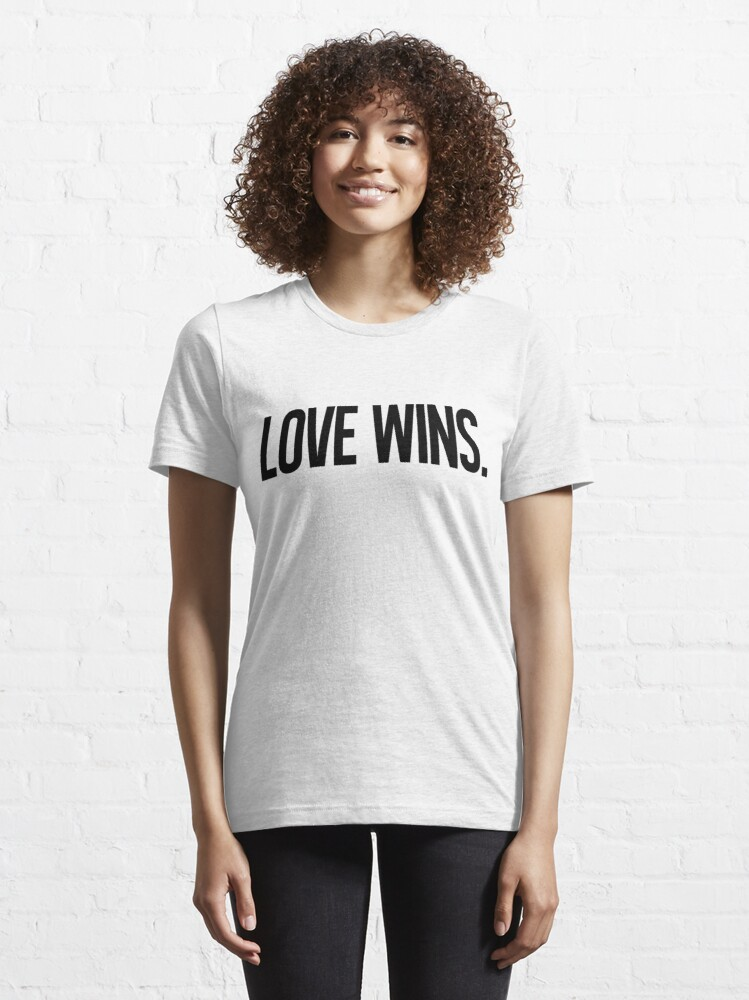 Alternate view of LOVE WINS. Essential T-Shirt