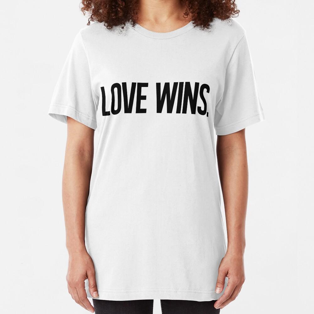 LOVE WINS. Slim Fit T-Shirt