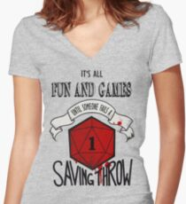 Its All Fun And Games Women's Fitted V-Neck T-Shirt