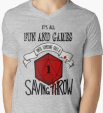 Its All Fun And Games Men's V-Neck T-Shirt