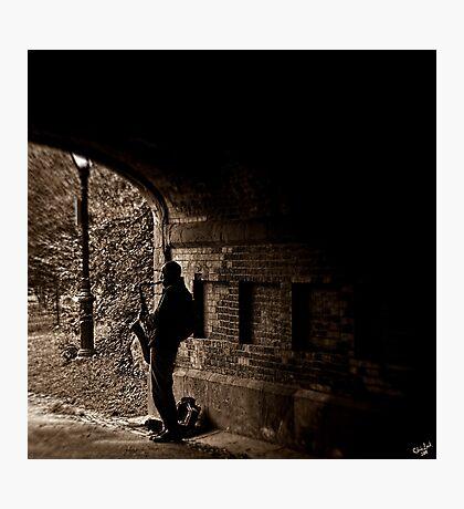 Central Park Sax Man Photographic Print
