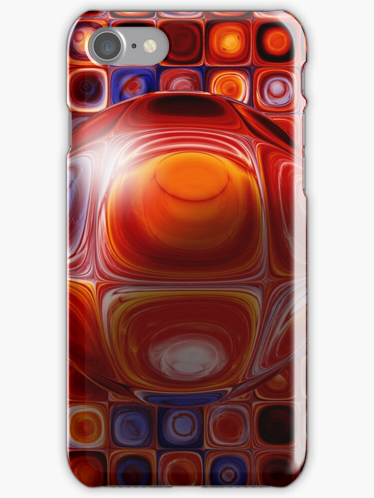 Tiles And Bubble-ations iPhone Case by Golubaja