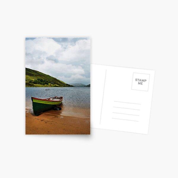 Lough Nafooey Boat Postcard