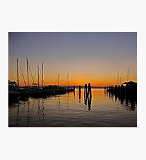 Sunset at Burlington Bay (Vermont) Photographic Print