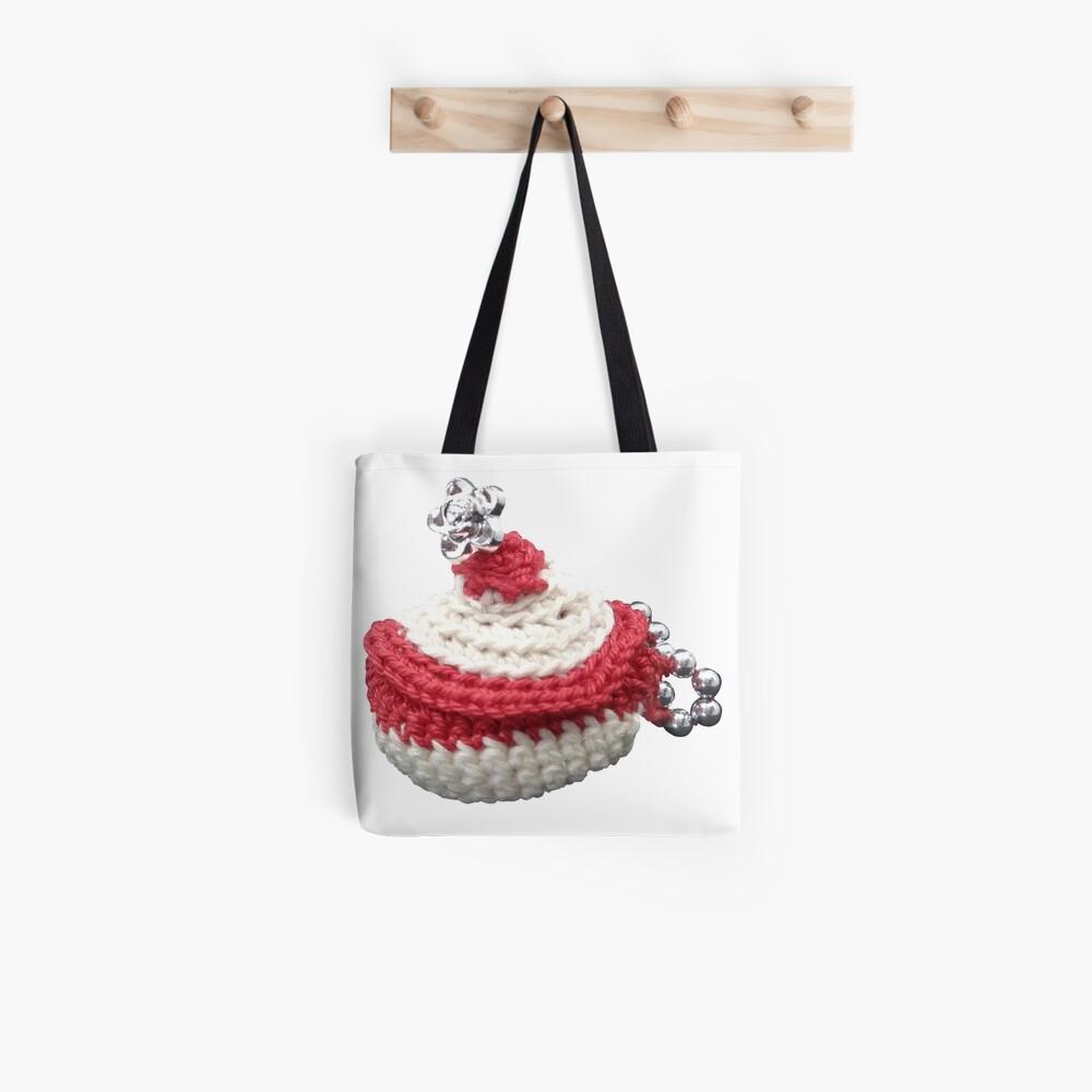 Tote bag «Création en crochet, mini panière à perles, Vata»