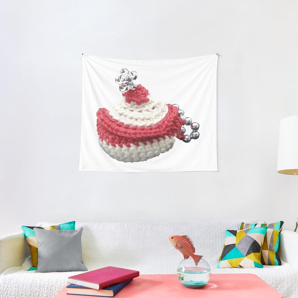 Tentures «Création en crochet, mini panière à perles, Vata»