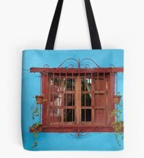 Red window blues Tote Bag