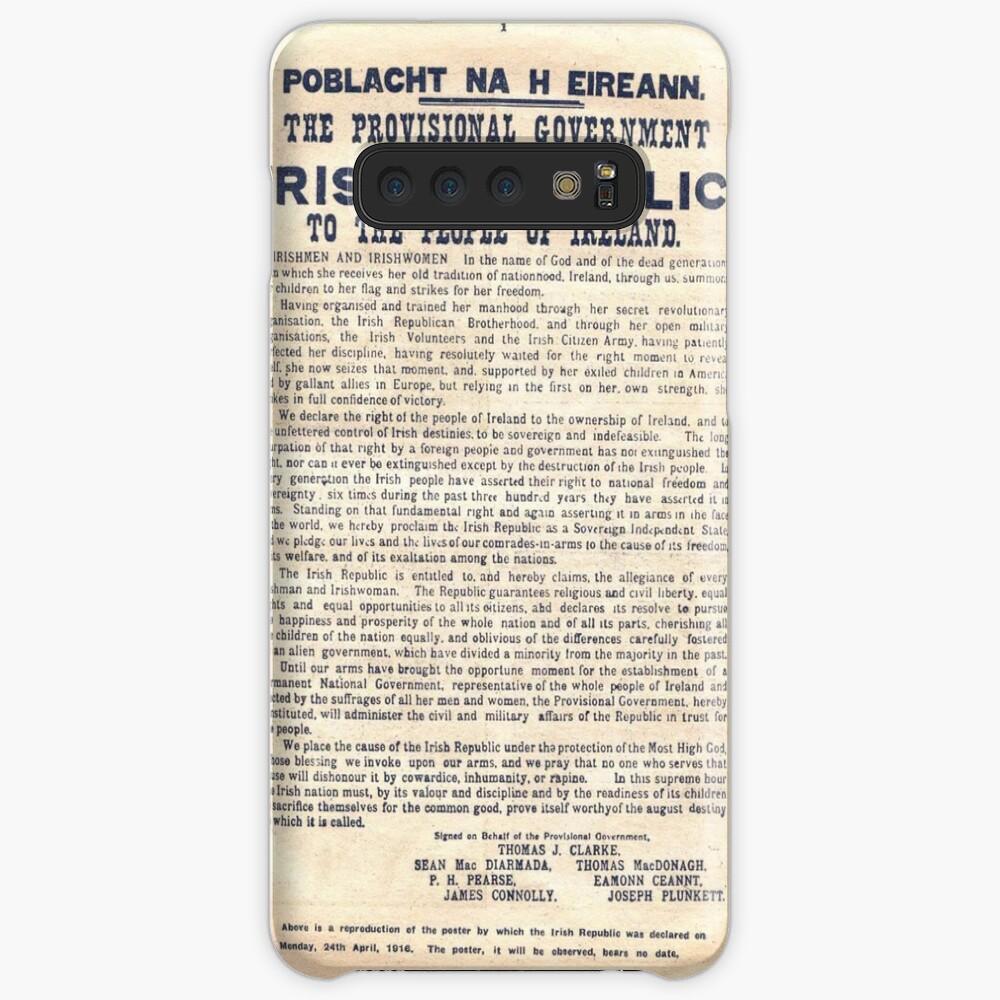 Proclamación irlandesa de 1916 Funda y vinilo para Samsung Galaxy
