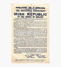 1916 Irische Proklamation Fotodruck