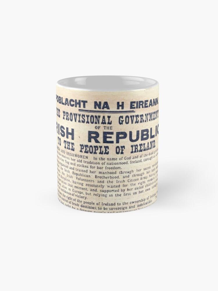 Vista alternativa de Taza Proclamación irlandesa de 1916