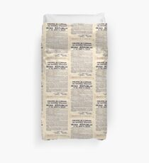 1916 Irish Proclamation Duvet Cover