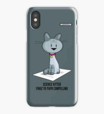 Science Kitteh is reviewing your latest paper iPhone Case