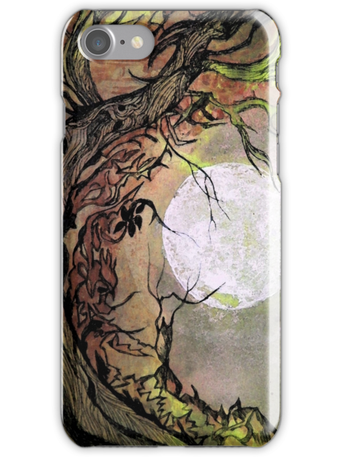 iPhone Case of painting... Almond Tear Drops by linmarie