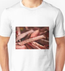 Dried Rolled Plum Leaves - Macro Unisex T-Shirt