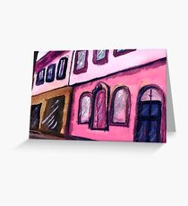 Old downtown, watercolor Greeting Card
