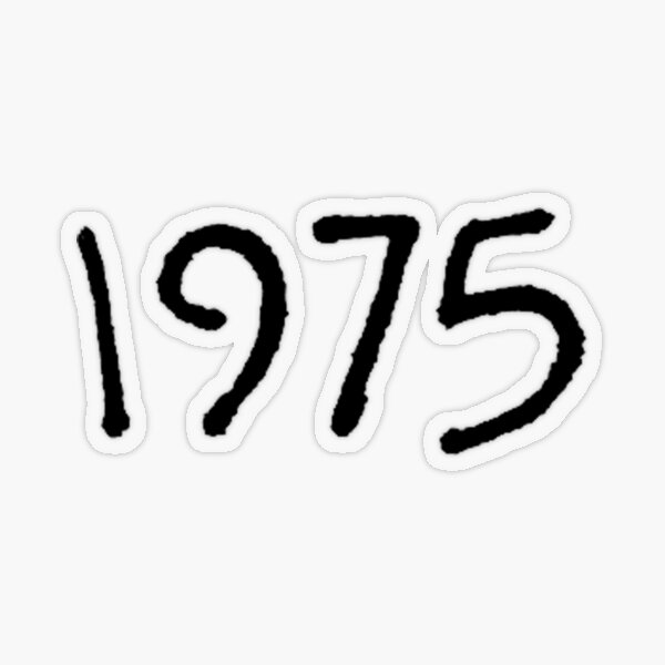 The 1975 Transparent Sticker