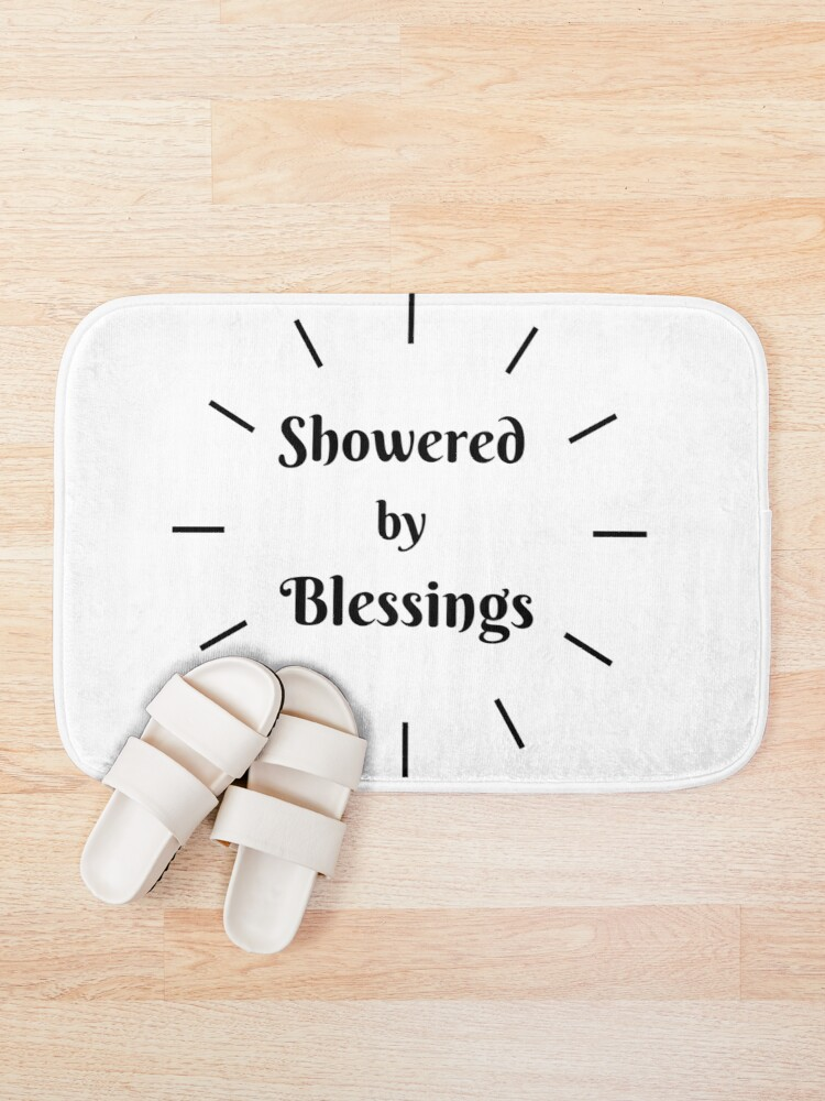 Alternate view of SHOWERED BY BLESSINGS Bath Mat