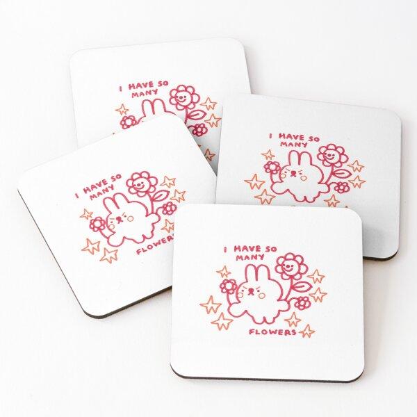 I HAVE SO MANY FLOWERS Coasters (Set of 4)