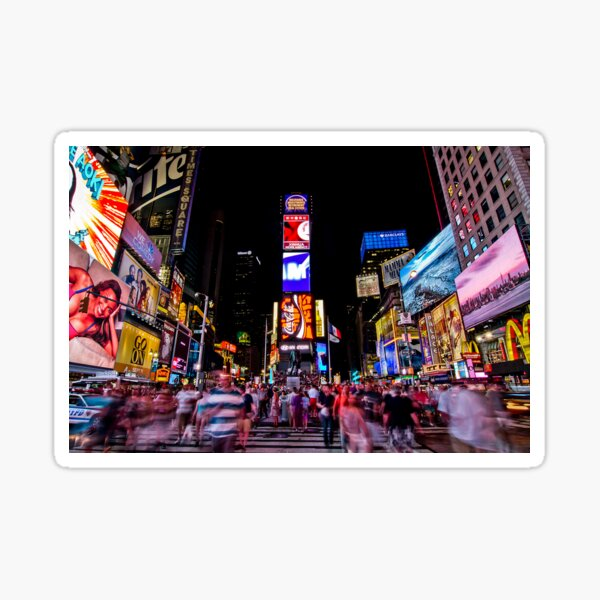 Times Square at Night Sticker