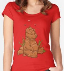 POO BEAR Women's Fitted Scoop T-Shirt