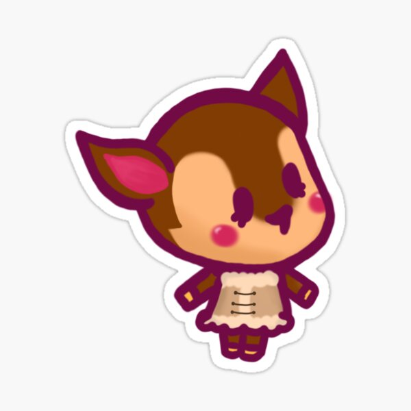 Fauna Animal Crossing Chibi Sticker