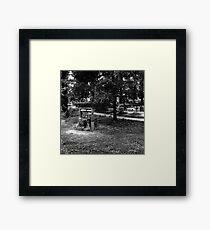 Alūksnes kapsēta   Aluksne Cemetery Framed Print