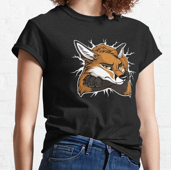 STUCK Red Fox / Fuchs (white cracks) Classic T-Shirt