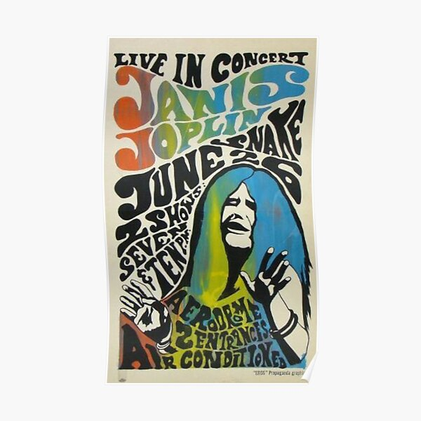 Janis Joplin Concert Poster Poster