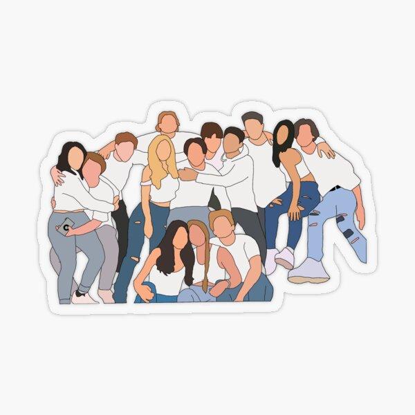 Les membres de la Maison Hype Sticker transparent