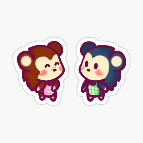 Sable and Mabel Animal Crossing Chibi Sticker