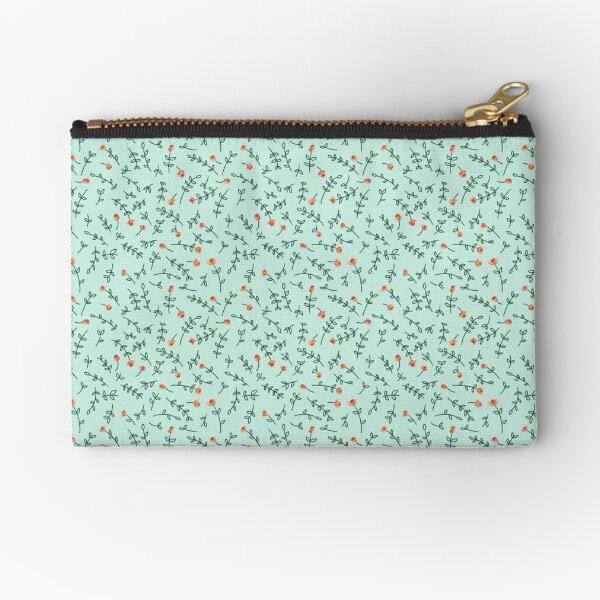 Floral coral Zipper Pouch