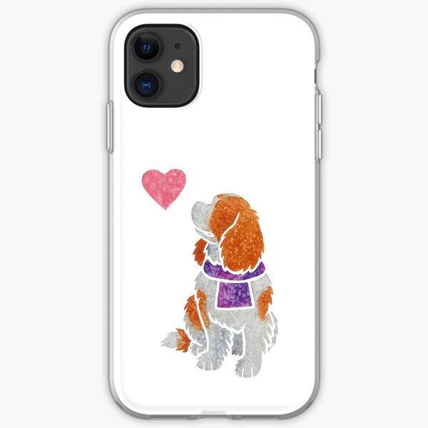 Watercolour Cavalier King Charles Spaniel iPhone Soft Case