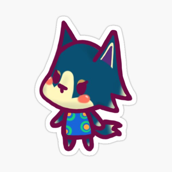 Wolfgang Animal Crossing Chibi Sticker