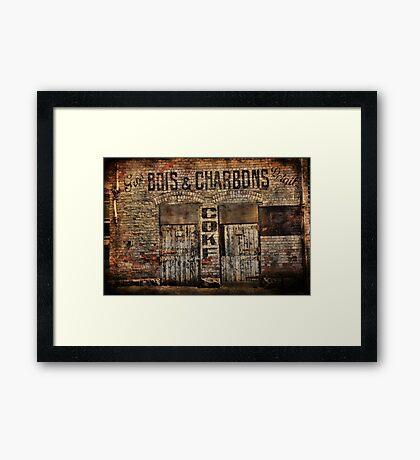 Bois et Charbons Framed Print