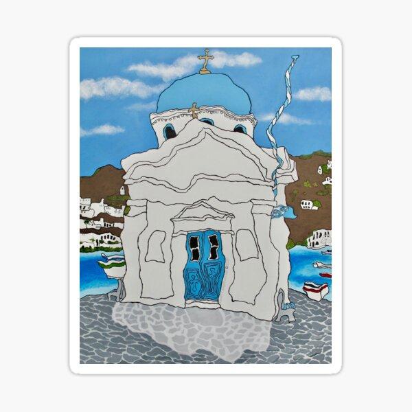Mykonos Church Sticker