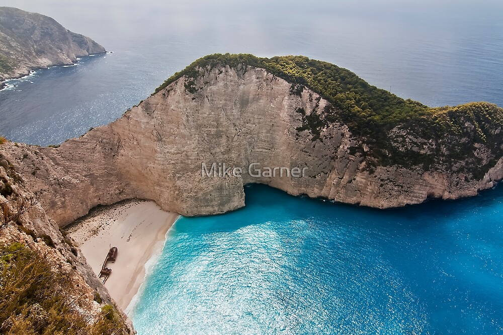 Smugglers Cove Zante by Mike Garner