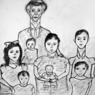 Family Sketch 02 by C. Rodriguez