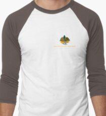 Golden Valley Tree Park - T Shirt - Small Logo - Yellow Text  Men's Baseball ¾ T-Shirt