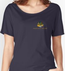 Golden Valley Tree Park - T Shirt - Small Logo - Yellow Text  Women's Relaxed Fit T-Shirt