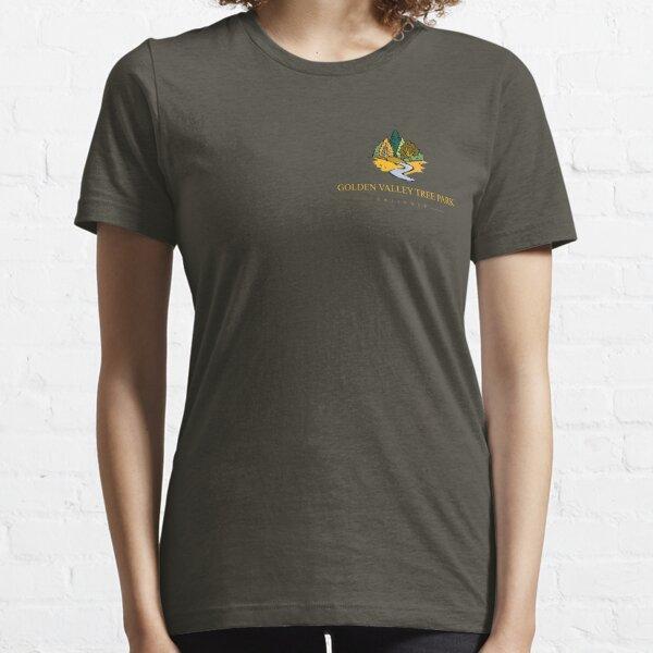 Golden Valley Tree Park - T Shirt - Small Logo - Yellow Text  Essential T-Shirt