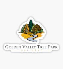 Golden Valley Tree Park - T Shirt - Small Logo  Sticker