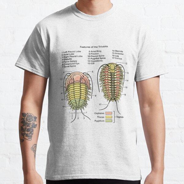 Trilobite Morphology Diagram Classic T-Shirt