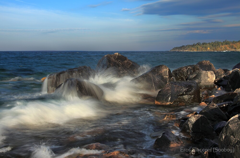 Breaking wave Katherine Cove, Lake Superior Provincial Park, Ontario Canada by Eros Fiacconi (Sooboy)