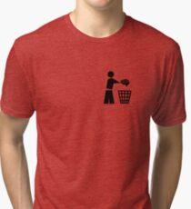 bin your brains pocket Tri-blend T-Shirt